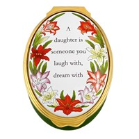 "Halcyon Days ""A Daughter Is Someone You Love with All Your Heart"" Enamel Box"