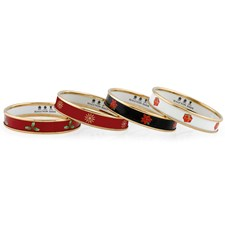 Halcyon Days Christmas Bangles