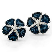 London Blue Topaz Sand Dollar Earrings
