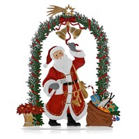 Pewter Santa Ringing in the Season