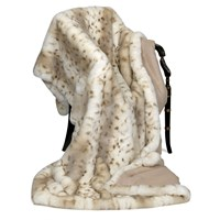 Faux Fur Throw Lynx & Cashmere