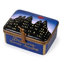 New York Skyline By Night Limoges Box