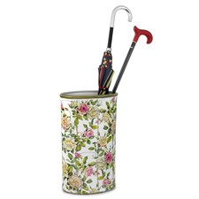 Pink & White Rose Oval Umbrella Stand