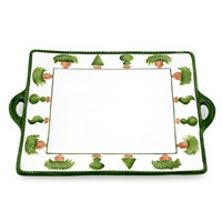 Topiary Ceramic Tray with Handles