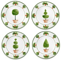 Topiary Plates, Set of 4
