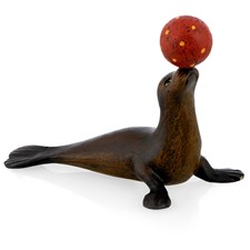 Austrian Bronze Sea Lion with Ball Figurine