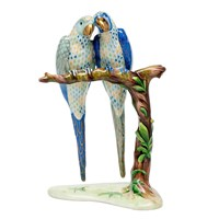 Herend Reserve Pair of Macaws Figurine