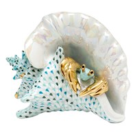 Herend Conch Shell with Crab Figurine
