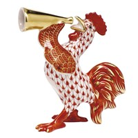 Herend Crowing Rooster