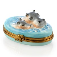 Hippo with Baby Limoges Box