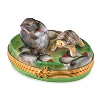 Rabbit & Turtle Limoges Box