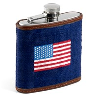 American Flag Needlepoint Flask