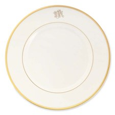 Pickard Signature Ultra White Monogrammed Gold Script