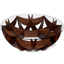 American Walnut Honeycomb Cocktail Table