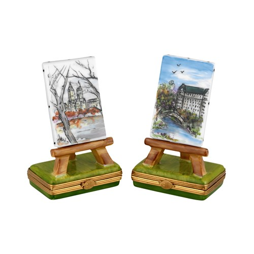 Central Park Easels Limoges Boxes