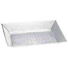 Christofle Croco D'Argent Silver Plated Valet Tray