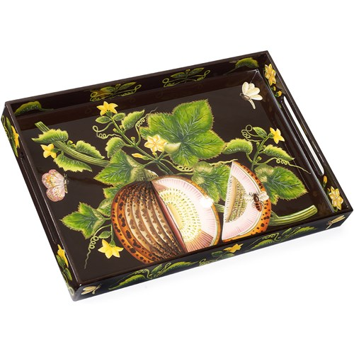 Brookshaw Melon Rectangular Lacquer Tray