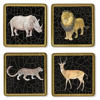 Glass Safari Animal Coasters