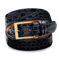 Crocodile Belts, Black