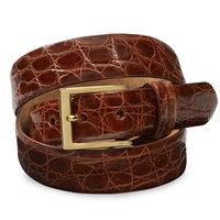 Crocodile Belts, Cognac