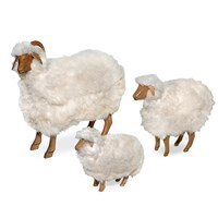 Natural Oak Sheep Footstools