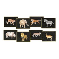 Large Glass Safari Animal Placemats