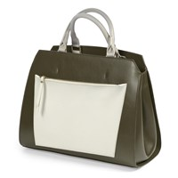Italian Leather Color Block Handbags