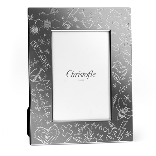 Christofle Graffiti Silverplated Picture Frame Collection Silver