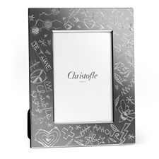 Christofle Graffiti Silverplated Picture Frames
