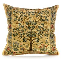 Tree of Life Beige Tapestry Pillows