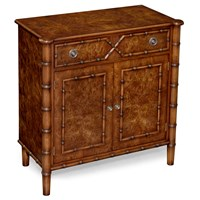 Burr Elm Two-Door Cabinet