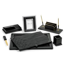 Colonial 5-Piece Leather Desk Sets