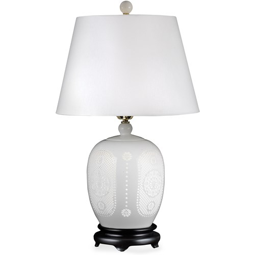 Alina Pierced Bone China Lamp