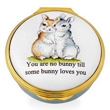 Halcyon Days You Are No Bunny Enamel Box