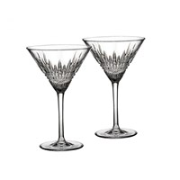 Waterford Lismore Diamond Martini Glasses, Set of 2