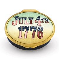 Halcyon Days July 4th 1776, 240th Anniversary Enamel Box