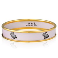 Halcyon Days Bunny on Pink Bangle