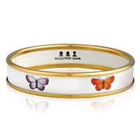 Halcyon Days Multi Colored Butterfly Bangle