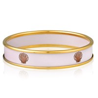 Halcyon Days Shell on Pink Bangle