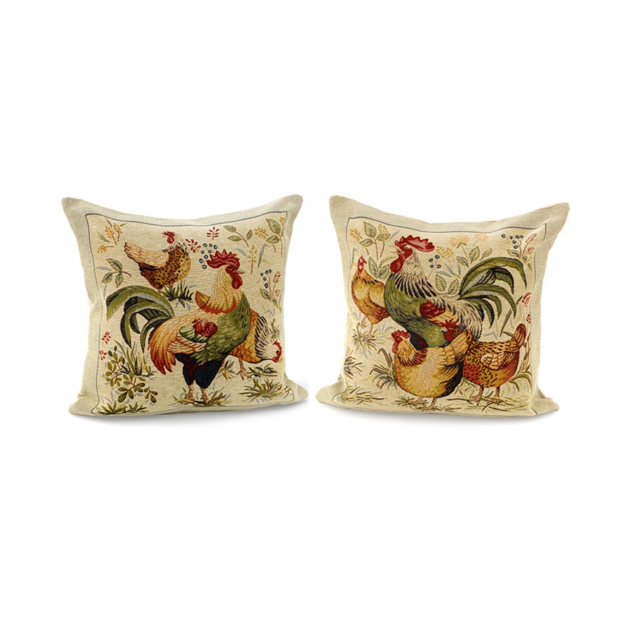 Rooster and Hen Pillows Small Pillows Home Decor Accessories Home Decor ScullyandScully.com