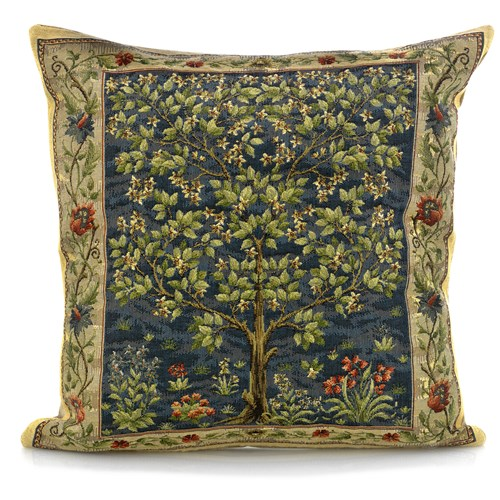 Tree of Life Tapestry Pillows, Blue