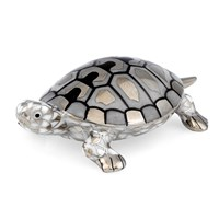 Herend Turtle Platinum Figurine, Small