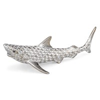 Herend Shark Platinum Figurine