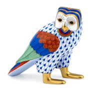 Herend Owl of Egypt Figurine, Sapphire Multi-Color