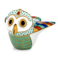Herend Indian Owl Figurine, Multi-Color