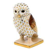 Herend Acropolis Owl Figurine, Butterscotch Multi-Color