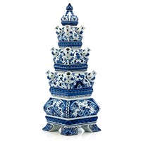 Blue Delft Tulips Pyramid Table Piece