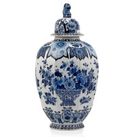 Blue Delft Ginger Jar with Finial
