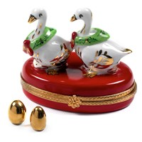Geese with Eggs Limoges Box