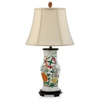 Rose Famille Lamp with Carnelain Finial